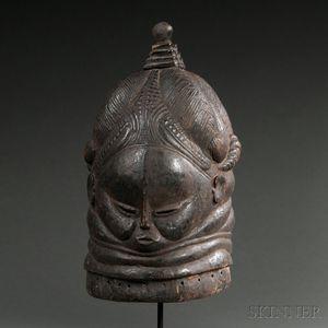 Bundu Carved Wood Helmet Mask