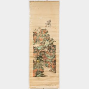 Scroll Painting of an Autumnal Scene.