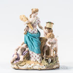 Meissen Porcelain Allegorical Figural Group