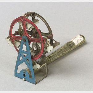 Painted Tin Ferris Wheel Whistle Penny Toy