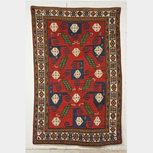 "Sold for: $41,475 - ""Pinwheel"" Kazak Rug"