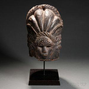 Bassa Carved Wood Helmet Mask