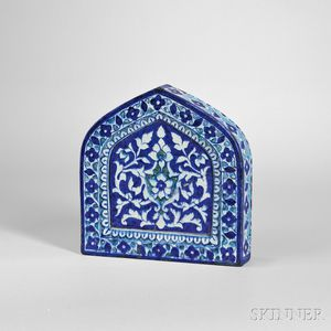 Blue and White Earthenware Tile