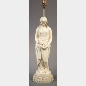Copeland Parian Figure of Maidenhood