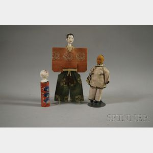"""Door of Hope"" Boy with Two Additional Asian Dolls"