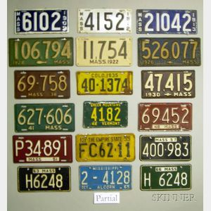 Approx. 130 License Plates