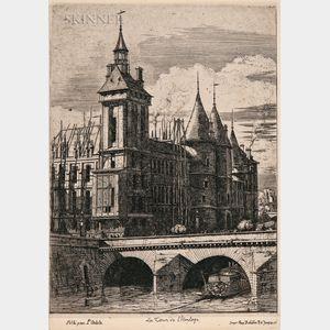 Charles Meryon (French, 1821-1868)      Two Prints: La Tour de L'Horloge