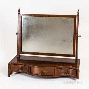 Mahogany Serpentine Dressing Mirror