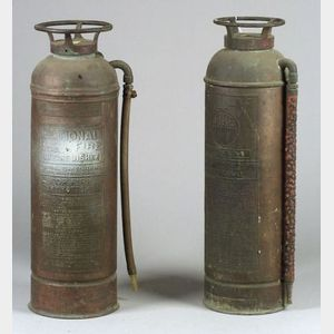 Two Copper Fire Extinguishers