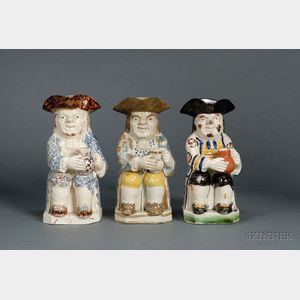 Three Staffordshire Toby Jugs