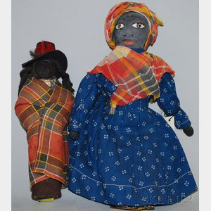 Witherspoon Painted Rag Doll and Black Man
