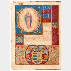 Carta Executoria de Hidalgia for Fernando de Presedo, Granted by King Philip II of Spain at Valladolid, 15 May 1567.