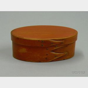 Small Shaker Painted Oval Covered Box