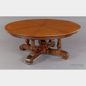 "Sold for: $82,950 - Fine Early Victorian Mahogany Metamorphic ""Jupe"" Dining Table"