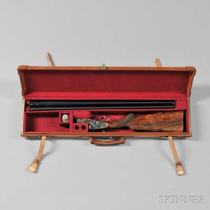 Holland & Holland 16 Gauge Double-barrel Shotgun in Custom Leather Case