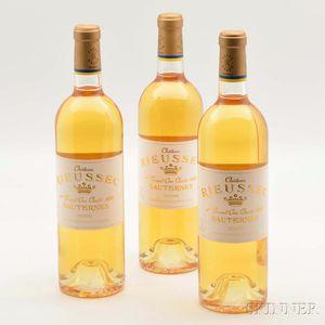 Chateau Rieussec 2009, 3 bottles