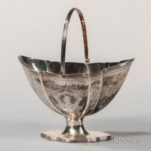 George III Sterling Silver Sugar Basket