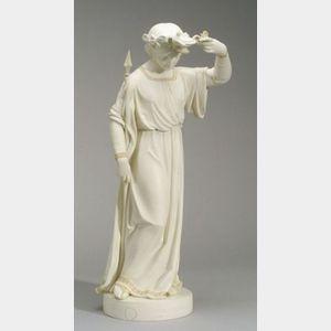 Copeland Parian Figure of Santa Filomena