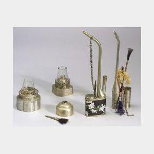 Five White Brass Items