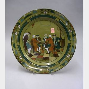 "Buffalo Pottery Deldare Ware ""An Evening at Ye Lion Inn"" Charger"