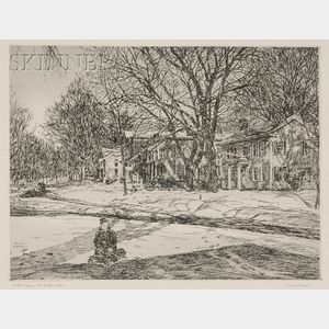 Philip Kappel (American, 1901-1981)      Lot of Three Connecticut Views: Winter Tracery - New Milford Green;   Sugar Maples in Spring;