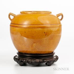 Amber Yellow-glazed Jar