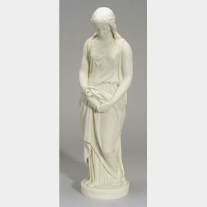 Copeland Parian Figure of Maidenhood