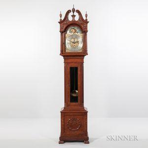 Elliott Quarter-sawn Oak Quarter-chiming Tall Clock