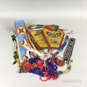 Collection of Plains Beaded Items