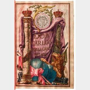 Patent of Nobility, Carta Ejecutoria, Spain, 1773.
