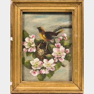 American School, 20th Century      Bird with Apple Blossoms