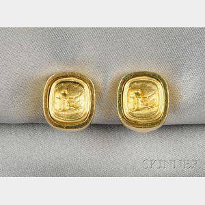18kt Gold Earclips, Esti Frederica
