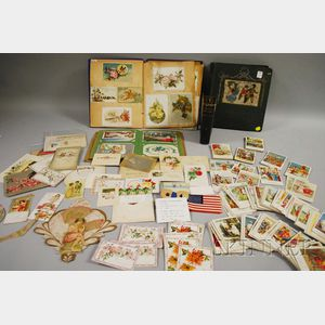 Lot of Assorted Late 19th and Early 20th Century Postcards and Ephemera
