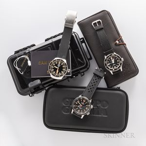 Three Contemporary Automatic Dive Watches