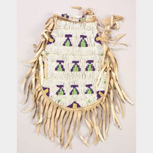 Central Plains Beaded Hide Pouch