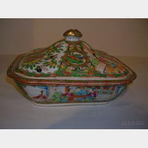 Rose Medallion Porcelain Covered Dish