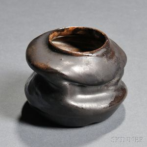 Pottery Vessel in the Manner of George Ohr