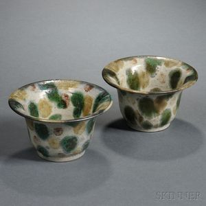 Pair of Contemporary Pottery Bowls