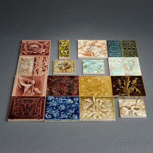 Eighteen Decorative Tiles