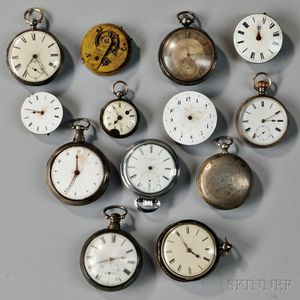 Group of English Watches and Movements for Parts