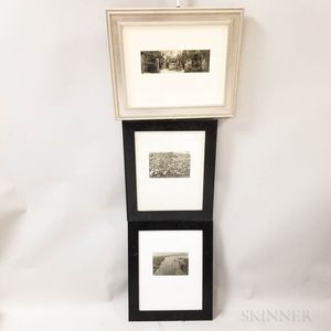 Three Framed Black and White Photographs.