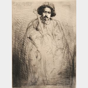 James Abbott McNeill Whistler (American, 1834-1903)      Becquet