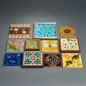 Eleven Decorative Tiles