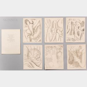 After Henri Matisse (French, 1869-1954)      Six Soft-ground Etchings from Ulysses   by James Joyce