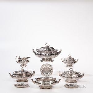 Eighteen-piece Gorham Sterling Silver Tableware Service