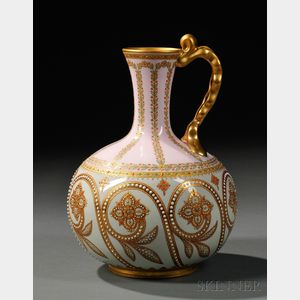 Copeland Jeweled Porcelain Ewer