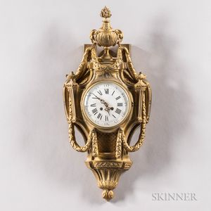 Louis XVI-style Bronze Cartel Clock