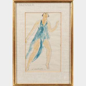 Abraham Walkowitz (American, 1878-1965)      Dancer