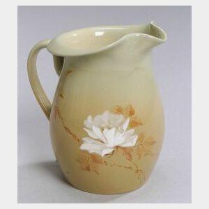 Early Rookwood Pottery Cameo Glaze Pitcher