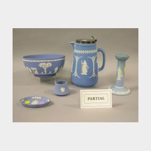 Approximately Seventeen Pieces of Wedgwood Light Blue Jasperware